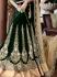 Cherubic Green Velvet Lehenga Choli