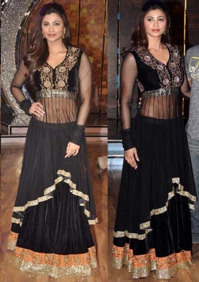 Daisy Shah black Anarkali