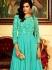 Ideal Turquoise Georgette Anarkali Suit
