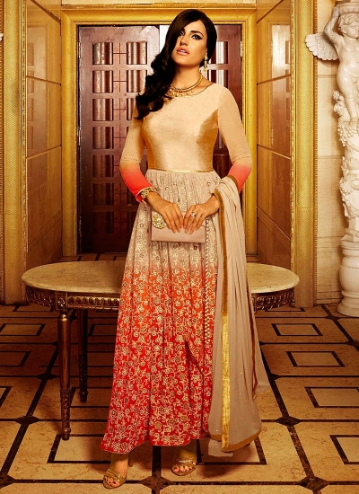Pristine Multi Color Georgette Anarkali Suit