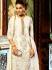 Glitzy White Georgette Churidar Suit