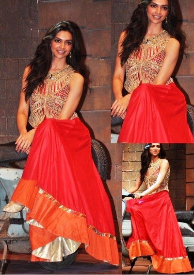 Deepika padukone red anarkali
