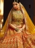Bewildering Orange Art Silk Lehenga Choli