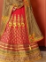 Hypnotizing Red Georgette Lehenga Choli