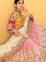 Bewitching Pink Georgette Lehenga Choli