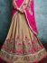 Exciting Art Silk Beige A Line Lehenga Choli