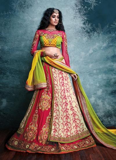 Tempting A Line Lehenga Choli For Bridal