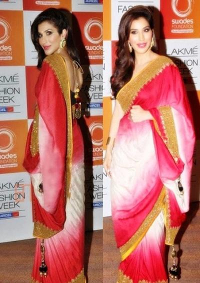 Sophie chaudhary Saree