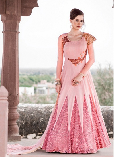 Unique Net Anarkali Salwar Suit