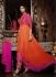 Ideal Shilpa Shetty Magenta and Orange Festival Party wear Anarkali Suit