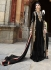 Fetching Black Georgette Churidar Suit