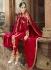 Trendy Red Georgette Churidar Suits