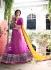 Honourable Yellow and Magenta Net Party Wear Lehenga Choli
