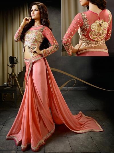 b45ae80306576b Designer Saris online shopping in USA UK Canada Buy Hot Pink Silk ...