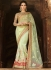Light Green Net On Satin Georgette Saree