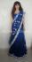 Sonakshi sinha dark blue lehenga saree