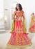 Lovable Multi Colour Silk Reception wear Lehenga choli