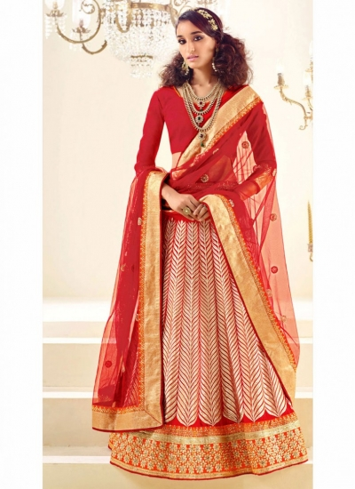 Faux Crepe Maroon Patch Border Designer Wedding Lehenga choli