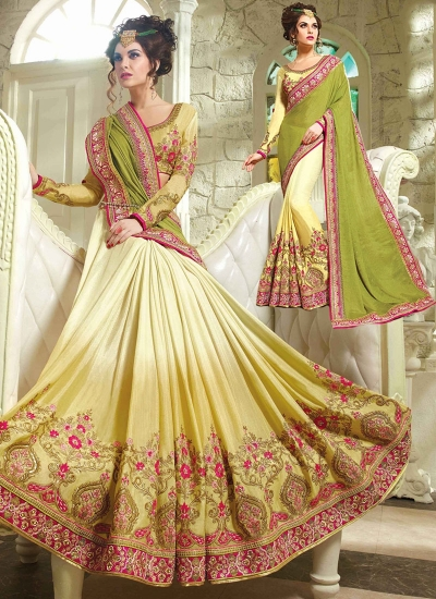Urbanity Multi Color Silk Georgette Saree