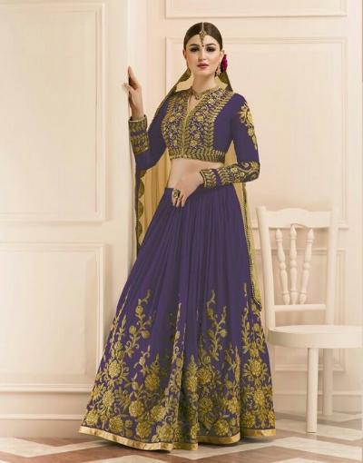 Wine color mudal silk wedding lehenga
