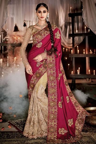 Chic Embroidered Work Designer wedding Saree