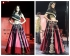 Lisa haydon pink and black designer lehenga choli