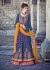 Blue and pink lehenga style wedding wear anarkali