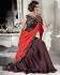 Priyanka chopra Brown and Plum color saree type wedding gown