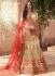 Cream colour banarasi silk bridal lehenga choli