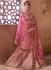 Light pink color raw silk bridal lehenga choli