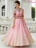 Light pink color raw silk party wear anarkali suit