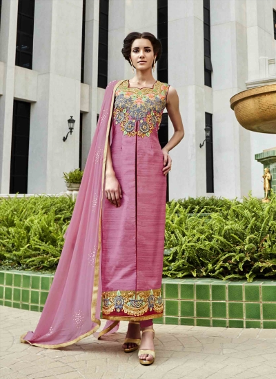 Delightful Embroidered Work Designer Suit