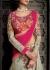 Grey and pink color georgette hand work designer wedding lehenga