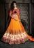 Orange color gerogette designer wedding lehenga