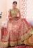 Pink and gold color netted  designer bridal lehenga