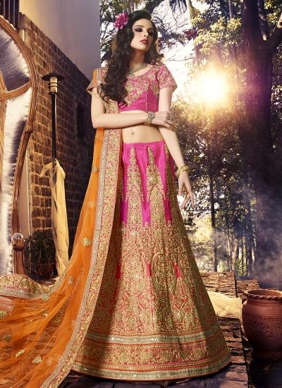 Distinctively Designer A Line Lehenga Choli For Bridal