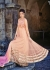 Peach color netted sequins party wear anarkali suit