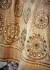 Beige color netted mirror work party wear anarkali suit