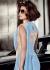 Priyanka Chopra Blue color Lycra Saree style Gown