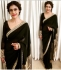 Kajol Black colour georgette bollywood saree