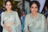 Sridevi in silver color netted bollywood saree