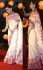 Deepika padukone white and pink satin silk georgette bollywood saree