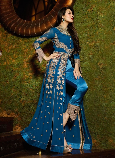 Malaika Arora Khan Embroidered Work Designer Suit