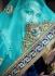 Blue Net georgette embroidered work a line lehenga choli