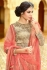 Beige and pink color netted party wear anarkali suit