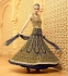 Blue and beige color netted party wear anarkali suit