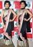 Shilpa shetty black saree at nach baliye set