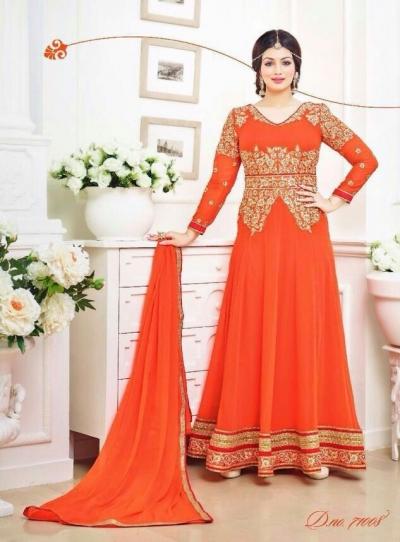 Ayesha takia Eid Special Orange Anarkali Suit