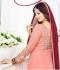 Ayesha takia Eid Special peach Anarkali Suit