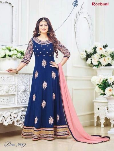 Ayesha takia Eid Special Blue Anarkali Suit